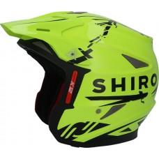 Shiro K-12 Yellow Trials Helmets Trial Helmet